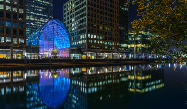 East Wintergarden Canary Wharf summer venue